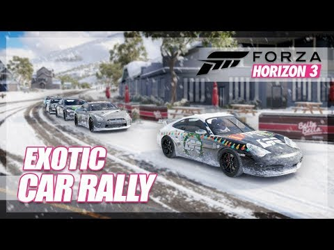 Forza Horizon 3 - Exotic Car Cruise in the Snow! (Ultra Blizzard Rally)