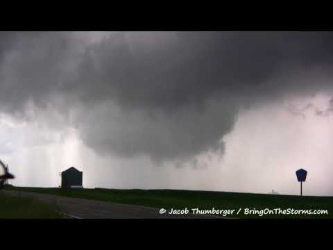June 21, 2009 (6-21-09) - HD - Williams to Holland, Iowa IA - Several Lowerings and a Funnel