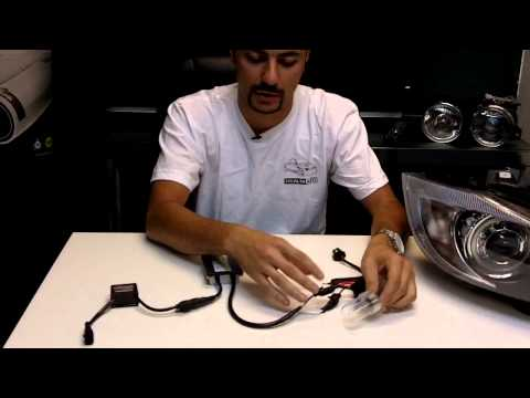 How to install a HID / Xenon kit with Anti Flicker Capacitors/ Error Code Canceller  STEALTH AUTO