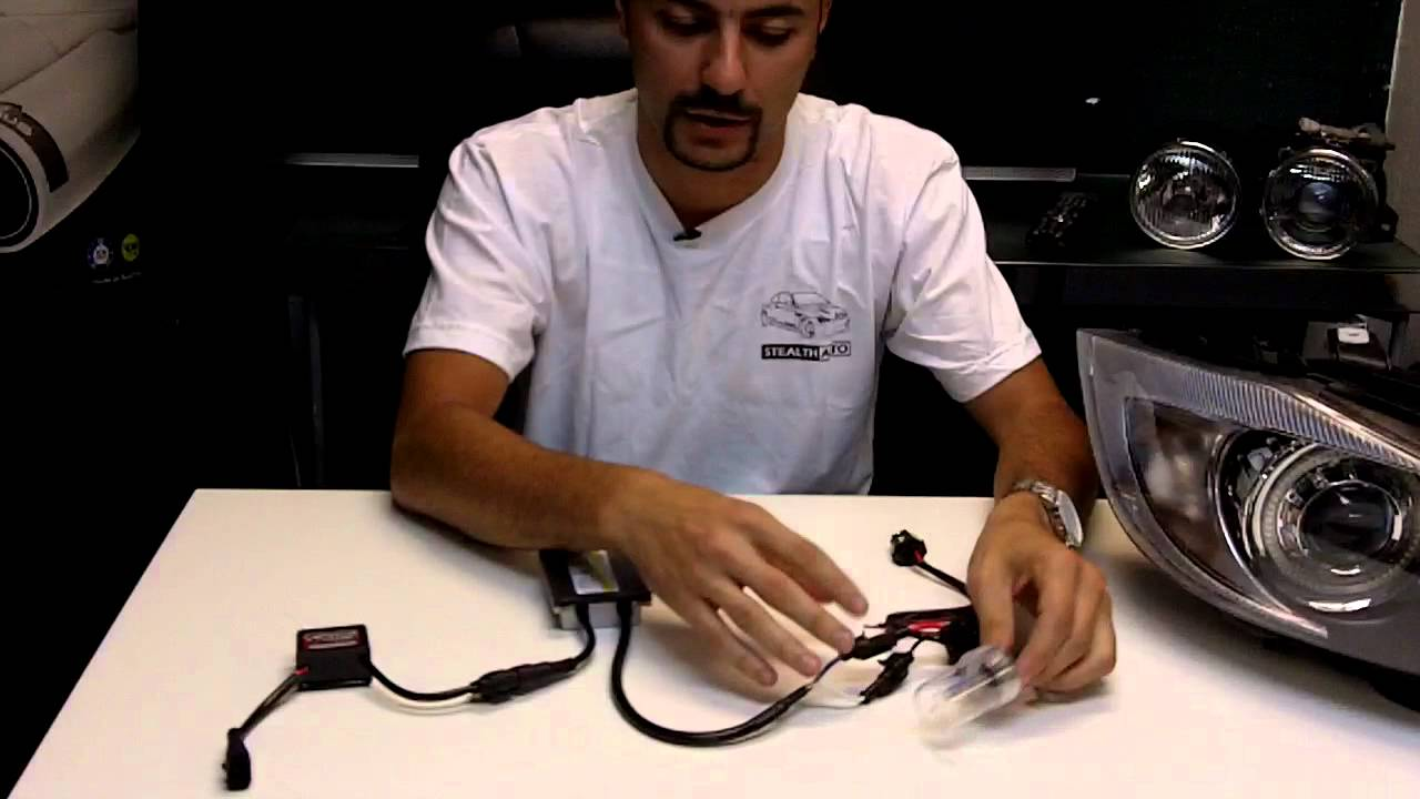 How To Install A Hid    Xenon Kit With Anti Flicker Capacitors   Error Code Canceller Stealth Auto