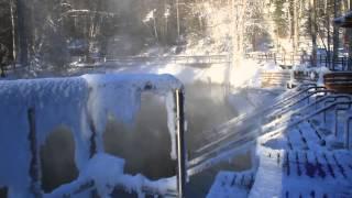Winter At Liard Hot Springs, Alaska Highway