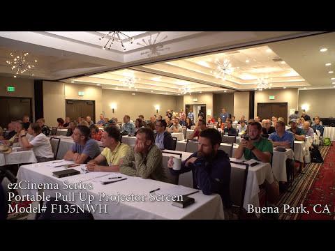 Elite Screens ezCinema Portable Projection Screen Customer Testimonial