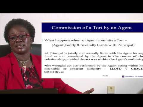 UGBS 205: SESSION 3 - AGENCY RELATIONSHIP