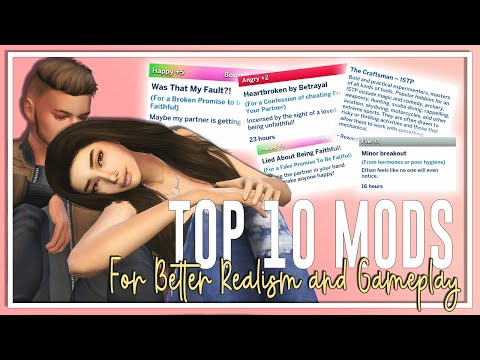 TOP 10 SIMS 4 MODS!😱   BETTER REALISM AND GAMEPLAY👪   JANUARY 2020  