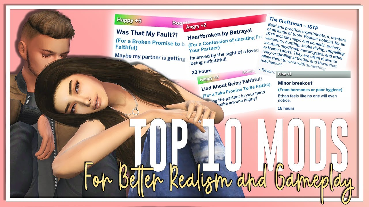 TOP 10 SIMS 4 MODS 😱 BETTER REALISM AND GAMEPLAY👪 JANUARY