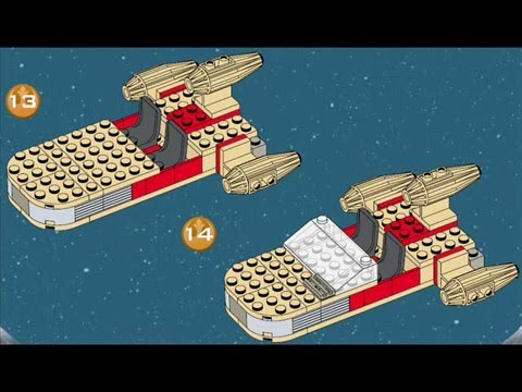 How To Build Video Lego Star Wars Landspeeder Set 7110 From 1999
