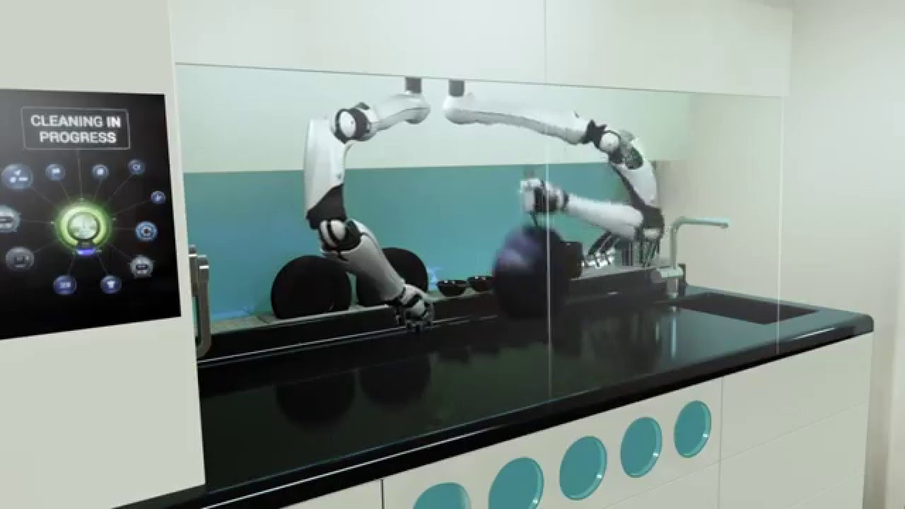 The First Robotic Kitchen By Moley Robotics Youtube