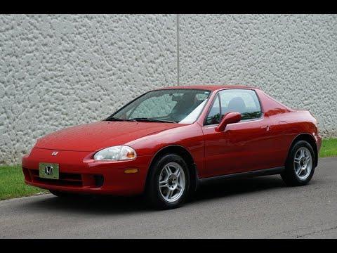 4K 1997 Honda Civic Del Sol 5 Speed Manual Bright Red