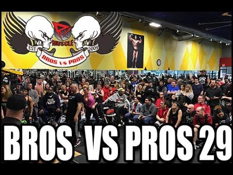 BROS VS PROS 29 | PRO FIT GYM LIVE!