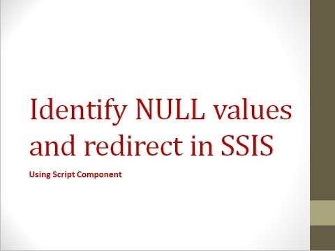 Redirect Rows With NULL Values Using SSIS