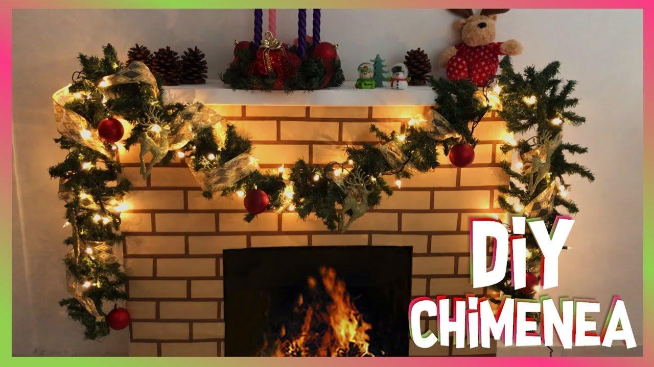Chimenea de cart n diy adornos navide os christmas - Chimeneas para decorar ...