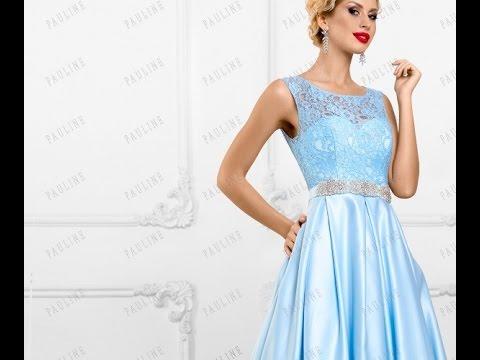 Голубое платье 2017 весна-лето: популярные модели - YouTube