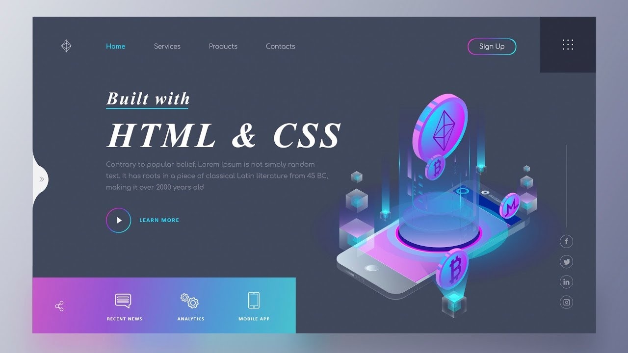 How To Make A Website Using Html And Css Website Design In Html And Css Youtube