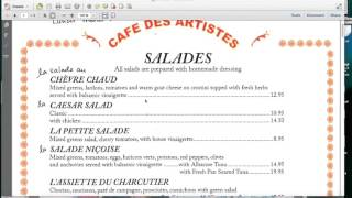 Pronounce in a French Restaurant
