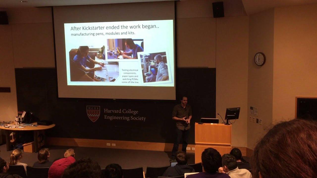 Electroninks Circuit Scribe Innovation Talk Harvard College Kickstarter Engineering Society Michael Bell