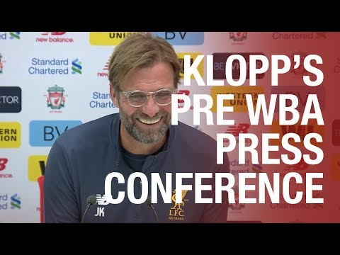 Jürgen Klopp's West Brom press conference from Melwood