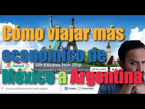 Cómo viajar de México a Argentina de una forma más económico