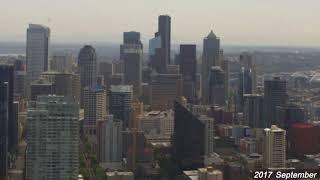 雨後のタケノコのごとく。シアトルのビルがニョキニョキと生えてくる様をタイムラプスで(アメリカ)