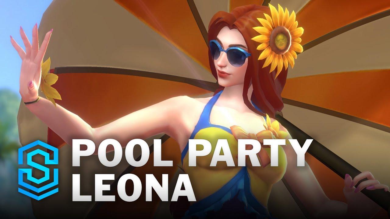 Pool Party Leona Wild Rift Skin Spotlight