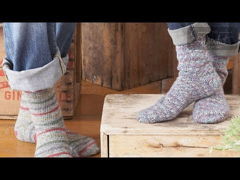 How To Crochet Socks For Beginners Toe Up Youtube