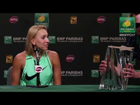 BNP Paribas Open 2017: Elena Vesnina Loses Her Trophy
