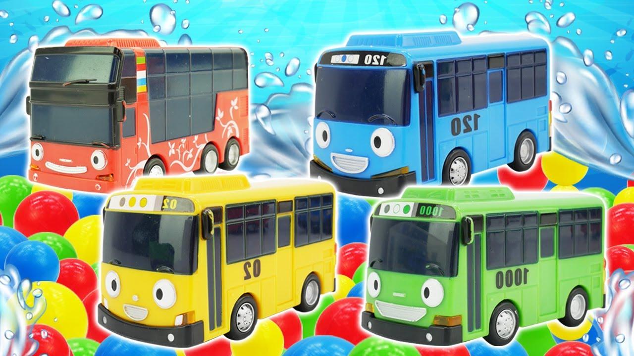 ¡En busca del tesoro con el autobús infantil Tayo y sus amigos los autobuses de juguete!