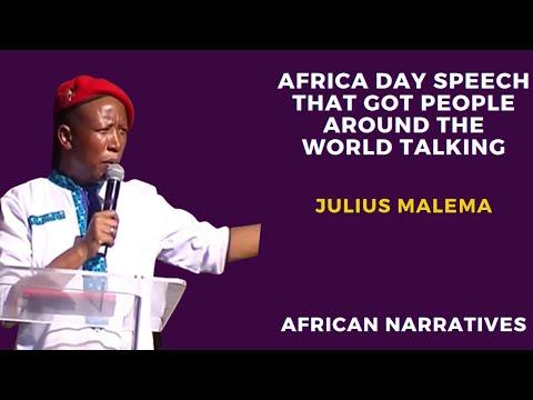 Julius Malema's Africa Day Speech That Got People Talking Around The World