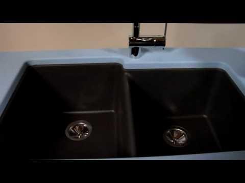 Elkay Gourmet E Granite Double Bowl Sink   YouTube