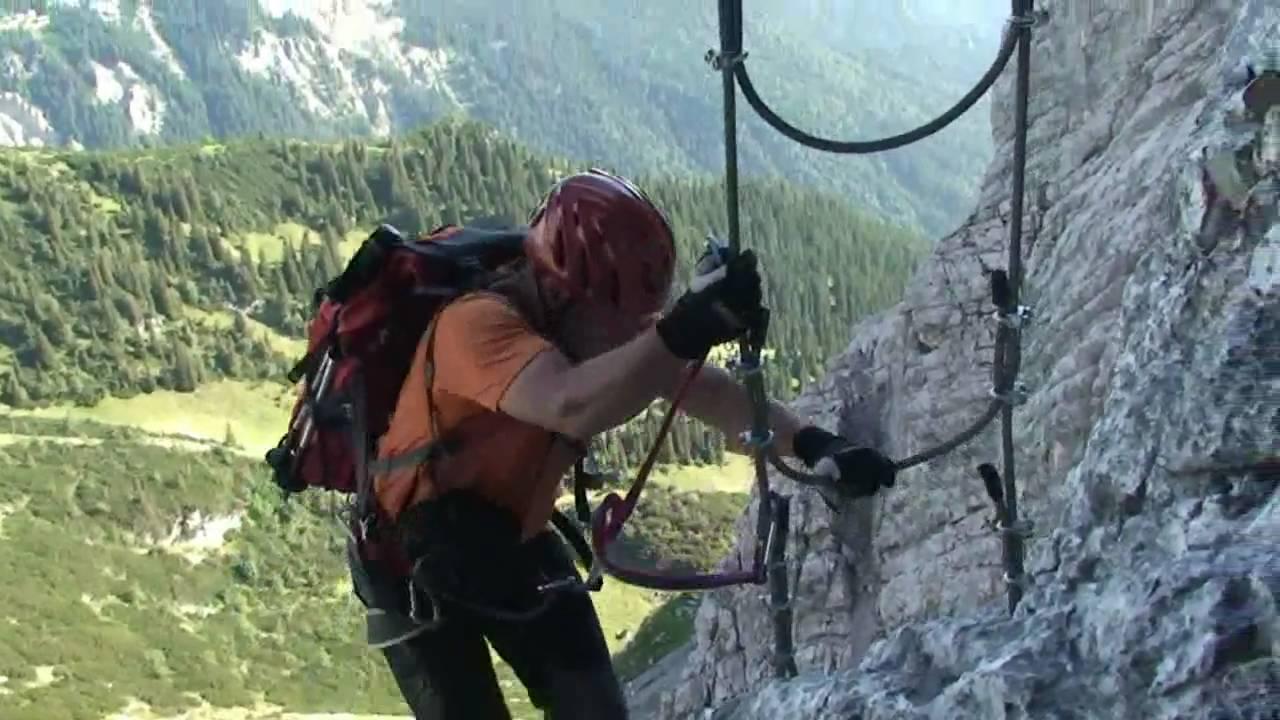 Klettersteig Alpspitze : Mauerläufersteig klettersteig ferrata alpspitze youtube