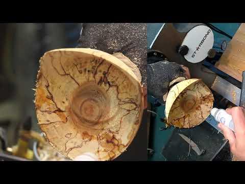 woodturning,-scoop-bowl.-tournage-sur-bois,-bol-coupe