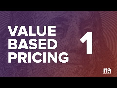 Value Based Pricing (Part 1)