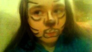 Как нарисовать кота на лице мелками для боди-арта(Моё первое видео(строго не судить!) Всем удачки в рисовании кота., 2016-01-04T11:44:08.000Z)