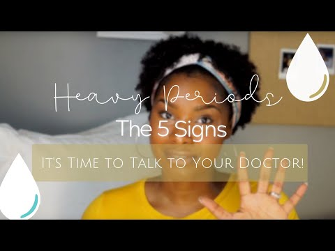 5 Signs of Heavy Periods | Heavy periods are not normal!