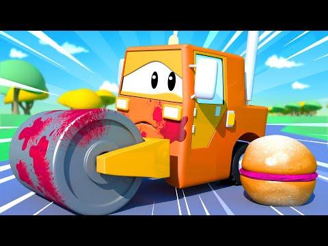 Автомойка Эвакуатора Тома - Малыш Стив - Автомобильный Город 💧 детский мультфильм