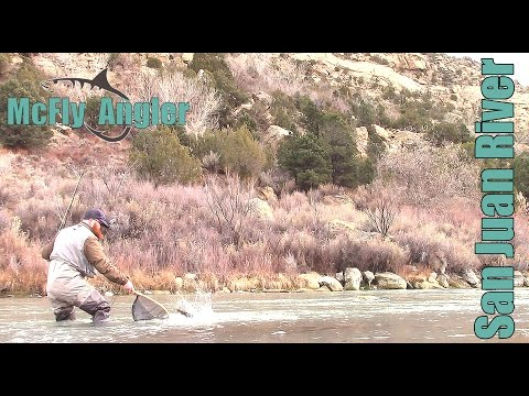 Winter MIDGE Fly Fishing On The San Juan River Tailwater For Trout - McFly Angler Episode 3