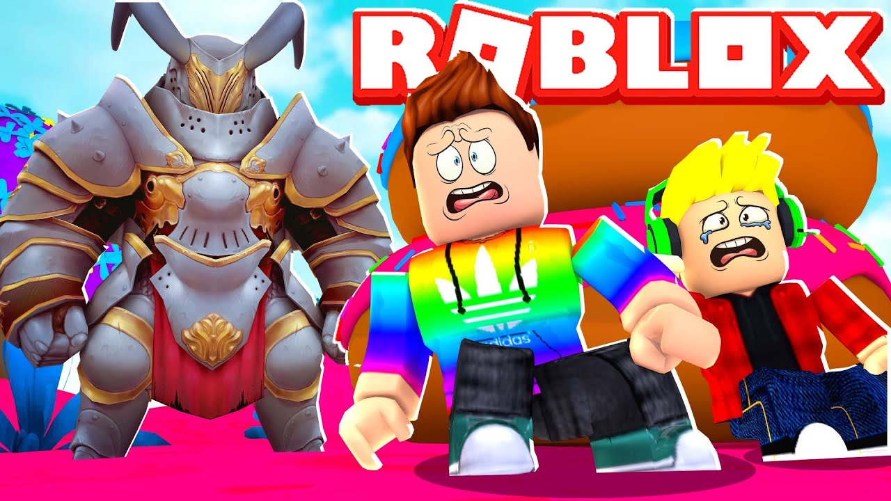 Father vs Son CANDY LAND OF Terror OBBY In Roblox