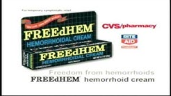 FreeDHEM Hemorrhoid Cream for Nearly 10 Min.