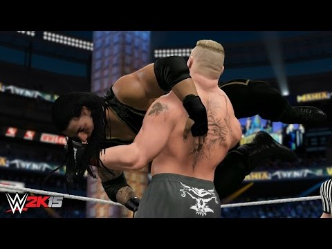 WWE 2K15 Wrestlemania 31 - Brock Lesnar vs Roman Reigns - WWE World Heavyweight Championship!