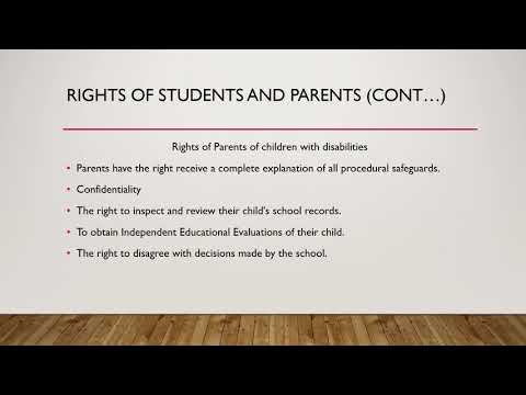 Legal Rights in Special Education