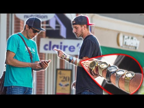 ASKING PEOPLE THE TIME WITH 6 WATCHES ON!