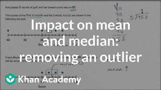 Impact On Median And Mean When Removing Lowest Value Example