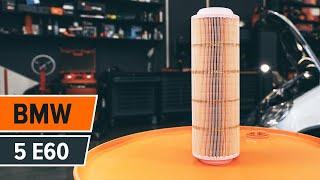 Hur och när byter man Luftfilter BMW 5 (E60): videohandledning