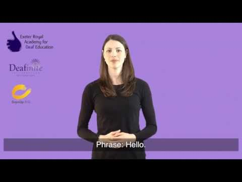 Learn Basic Greetings in British Sign Language (BSL)
