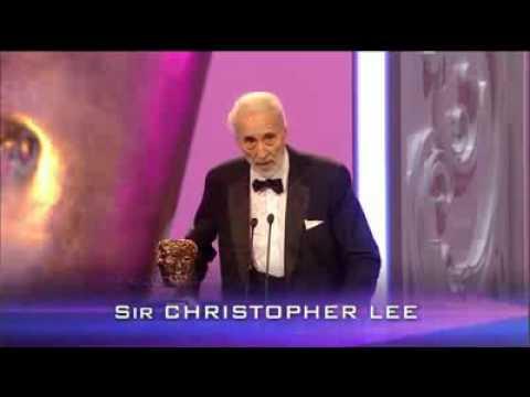 Sir Christopher Lee BAFTA 2011 Fellowship Award