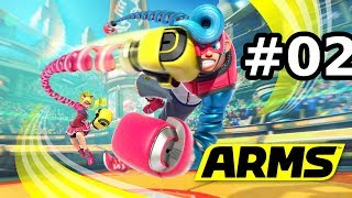 ARMS Global Testpunch (Switch): Ep #2 - Mischia online - Gameplay Ita