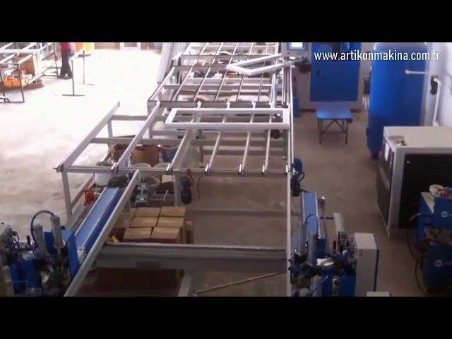SL 901 Dort Kose Kaynak ve CNC Kose Temizleme Otomasyon Hatt OztaskopruSIVAS