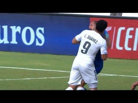 Did Luis Suarez Bite Giorgio Chiellini? Minecraft Style