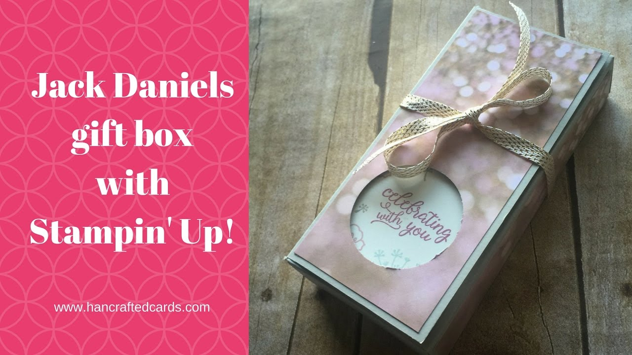 Jack Daniels Box with Stampin\' Up! Falling In Love - YouTube