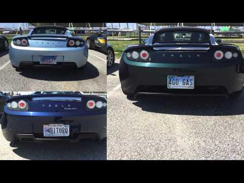 Tesla Vanity Plates from Tesla Road Trip 2015