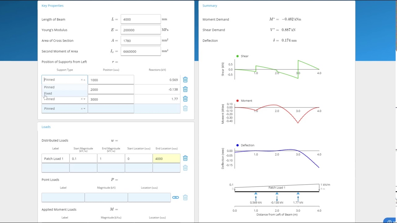 Free Beam Calculator | ClearCalcs